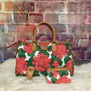 Dooney And Bourke Cotton Coated floral print set